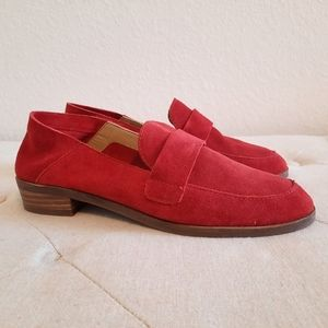 ❣ Lucky Brand Chennie Red Suede Leather Loafers❣
